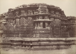 Hullabeed. The Great Temple. West front of northern vimana. [Hoysaleshwara Temple, Halebid.]